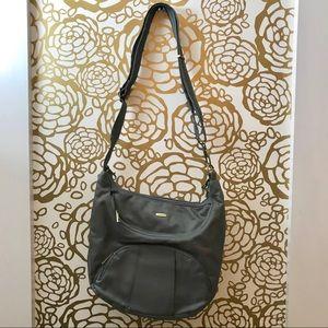 Travelon Anti Theft Crossbody Hobo Grey Bag